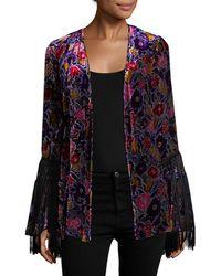 Anna Sui - Velvet Kimono - Lyst