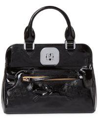 Longchamp - Gatsby Small Patent Convertible Tote - Lyst fe7690c743f38