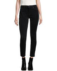 Hudson Jeans Nico Striped Cotton Jeans - Black