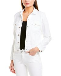7 For All Mankind 7 For All Mankind Cropped Trucker Jacket - White