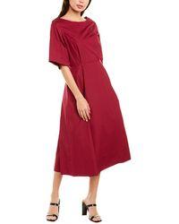 10 Crosby Derek Lam Back Cutout Midi Dress - Purple