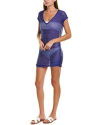 Jordan Taylor Chevron Cover-up Shirt - Blue