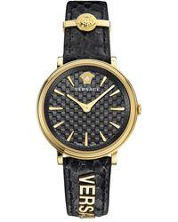 Versace V-circle-logomania E Watch - Black