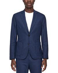 J.Lindeberg J.lindeberg Hopper Tech Travel Wool-blend Blazer - Blue