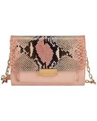 Gigi New York Kate Leather Crossbody - Pink