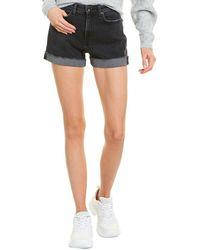 Rag & Bone Nina High Waist Denim Shorts - Black
