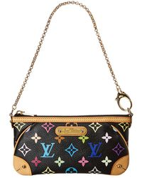 Louis Vuitton Black Monogram Multicolore Canvas Milla Mm