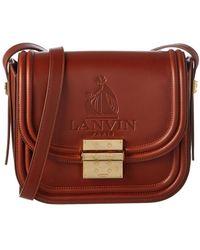 Lanvin Lala Medium Leather Shoulder Bag - Brown