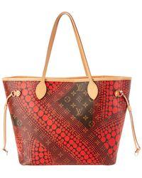 Louis Vuitton - Limited Edition Yayoi Kusama Red Dots Monogram Canvas Neverfull Mm - Lyst