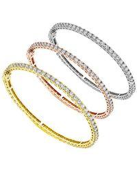 Diana M. Jewels . Fine Jewellery 18k Tri-color 10.60 Ct. Tw. Diamond Bangle Set - Metallic