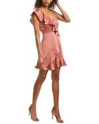 Jack BB Dakota Limelight Faux Wrap Dress - Pink