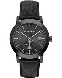 Burberry Men's City Leather Watch - Black