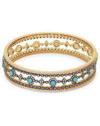 Freida Rothman - Turquoise & Crystal Eternity Dot Bracelet - Lyst
