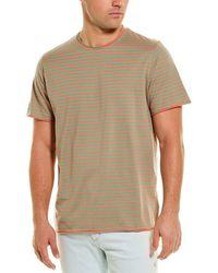 Ovadia Raw Edge Stripe T-shirt - Green