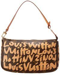 Louis Vuitton - Limited Edition Stephen Sprouse Graffiti Monogram Canvas Pochette - Lyst