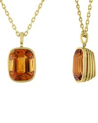 Tate - 18k 20.24 Ct. Tw. Citrine Necklace - Lyst