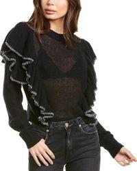 IRO Daly Wool & Linen-blend Jumper - Black