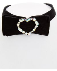 Betsey Johnson - Roses Cz Bow & Heart Choker - Lyst