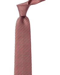 Ferragamo Sail Printed Silk Tie - Red