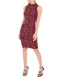 MILLY Cheetah Sweaterdress - Pink