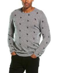 Autumn Cashmere Mini Skull Cashmere Crewneck Sweater - Gray