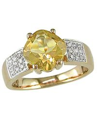 Rina Limor 10k 2.10 Ct. Tw. Diamond & Citrine Ring - Metallic