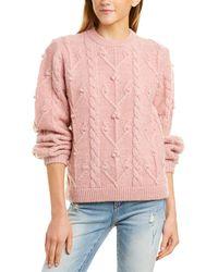 DEMYLEE Rosamonde Wool & Mohair-blend Sweater - Pink