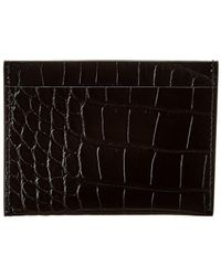 The Row Leather Credit Card Holder - Black