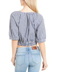 French Connection Lavande Gingham Top - Blue