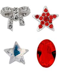 Swarovski Crystal Treasure Plated Charms - Blue