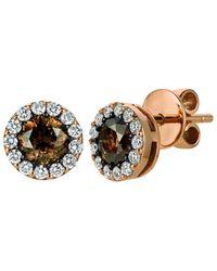 Le Vian 14k Rose Gold 1.59 Ct. Tw. Diamond Earrings - Metallic
