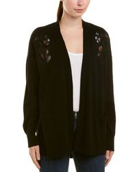 Sandro - Lace-detailed Wool & Cashmere-blend Cardigan - Lyst