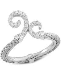 Alor Classique 18k & Stainless Steel 0.16 Ct. Tw. Diamond Ring - Metallic