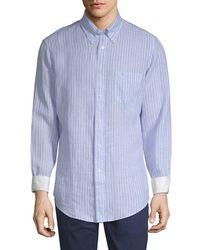 Brooks Brothers - Linen Striped Sport Shirt - Lyst