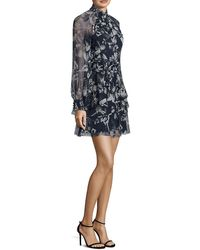 Parker Shelby Silk A-line Dress - Blue