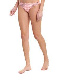 Shoshanna Swimwear Knot Side Bikini Bottom - Red