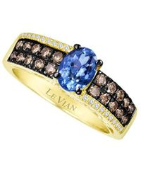 Le Vian ? Chocolatier? 14k Honey Gold? 1.12 Ct. Tw. Diamond & Tanzanite Ring - Metallic