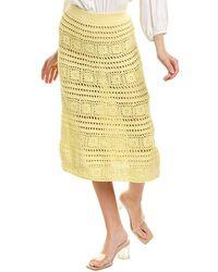STAUD Marlin Skirt - Yellow