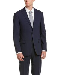 Ike Behar | Wool Smart Suit With Flat Front Pant | Lyst