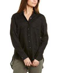 James Perse Casual Linen Shirt - Black