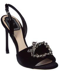 Dior Velvet Sandal - Black