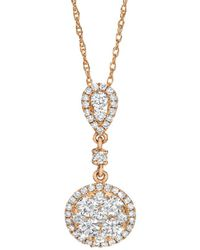 Le Vian ? Pendant 14k Strawberry Gold? 0.71 Ct. Tw. Diamond Pendant - Metallic