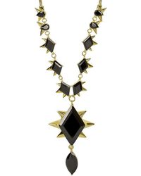 Noir Jewelry - Jewelry 14k Plated Spiked Necklace - Lyst