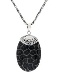 Samuel B. - Silver 3.50 Ct. Tw. Fossil Coral Necklace - Lyst