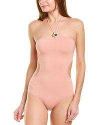 Adriana Degreas Halter One-piece - Pink