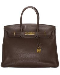 Hermès Brown Leather Birkin 35 Phw