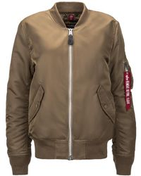 Alpha Industries 1 Laced Flight Jacket - Brown