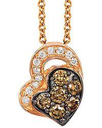 Le Vian - Chocolatier® 14k Rose Gold 0.23 Ct. Tw. Diamond Necklace - Lyst