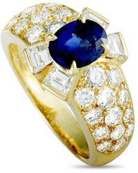 Van Cleef & Arpels Vintage Van Cleef & Arpels 18k 2.55 Ct. Tw. Diamond & Sapphire Ring - Metallic