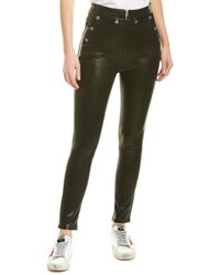 Rag & Bone Penton Leather Trousers - Black